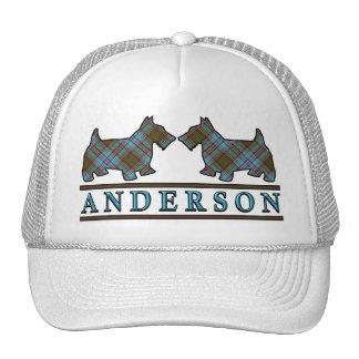 Clan Anderson Tartan Scottie Dogs Trucker Hat