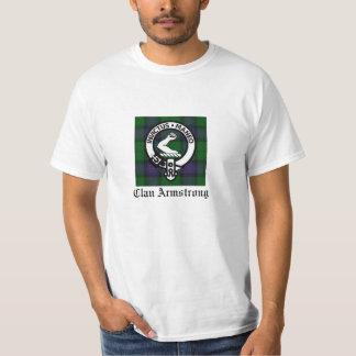 Clan Armstrong Family Crest & Tartan T-Shirt