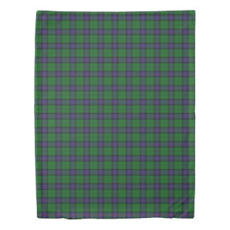 Clan Armstrong Scottish Accents Blue Green Tartan Duvet Cover