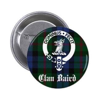 Clan Baird Crest Tartan 2 Inch Round Button