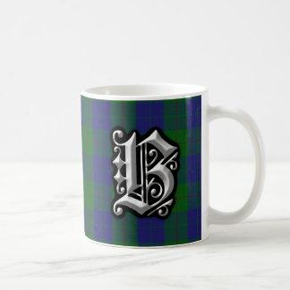 Clan Barclay Letter B Monogram Hunting Tartan Coffee Mug