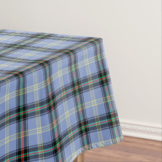 Clan Bell Light Blue and Black Scottish Tartan Tablecloth