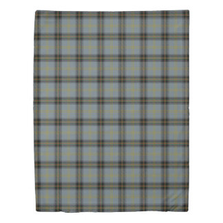Clan Bell Scottish Accents Blue Black Tartan Duvet Cover