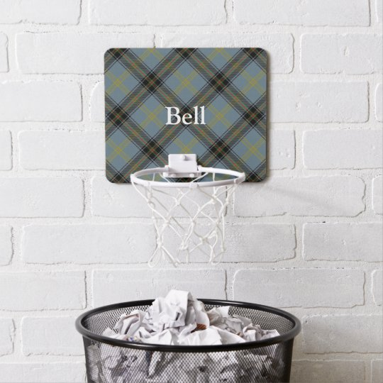 Clan Bell Tartan Customize Name Mini Basketball Hoop