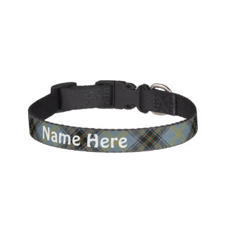 Clan Bell Tartan Customize Pet's Name Pet Collar