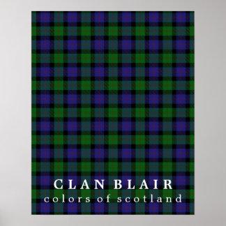 Clan Blair Colors of Scotland Tartan Poster