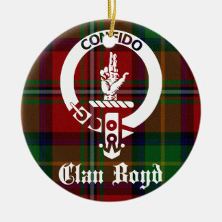 Clan Boyd Crest Tartan Ceramic Ornament