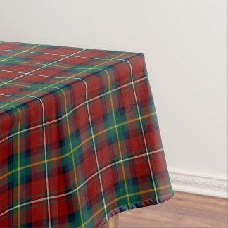Clan Boyd Red and Green Scottish Tartan Tablecloth