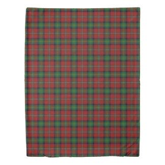 Clan Boyd Scottish Accents Red Green Tartan Duvet Cover