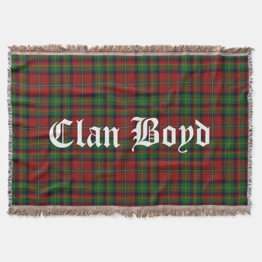Clan Boyd Tartan Throw Blanket