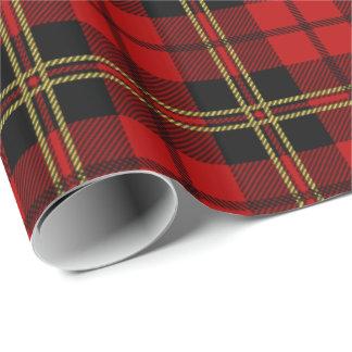Clan Brodie Red Tartan Plaid Pattern