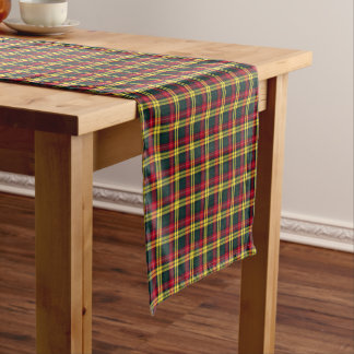 Clan Buchanan Green and Yellow Scottish Tartan Short Table Runner