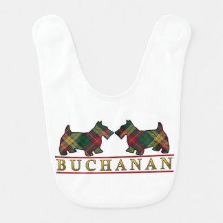Clan Buchanan Scottie Dogs Scottish Clan Tartan Bib