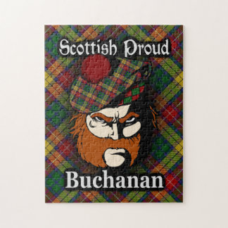 Clan Buchanan Scottish Proud Tartan Jigsaw Puzzle