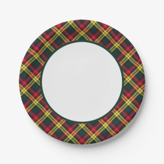 Clan Buchanan Tartan Border Paper Plate
