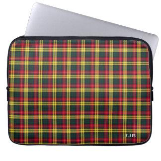 Clan Buchanan Tartan Colorful Plaid Monogram Laptop Computer Sleeves