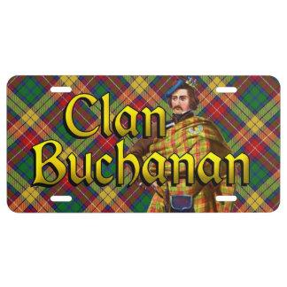 Clan Buchanan Tartan Dream License Plate