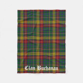 Clan Buchanan Tartan Fleece Blanket