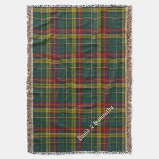 Clan Buchanan Tartan Plaid Custom Throw Blanket