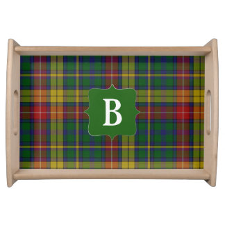 Clan Buchanan Tartan Plaid Monogram Serving Tray