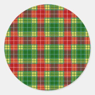 Clan Buchanan Tartan Round Sticker