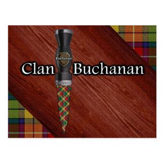 Clan Buchanan Tartan Sgian Dubh Blade Postcard
