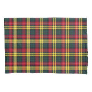 Clan Buchanan Yellow, Green and Red Scottish Plaid Pillowcase