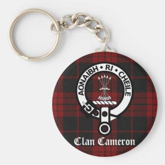 Clan Cameron Crest & Tartan Keychain