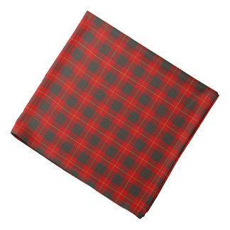 Clan Cameron Red and Green Tartan Bandana
