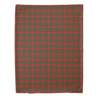 Clan Cameron Scottish Accents Red and Green Tartan Duvet Cover