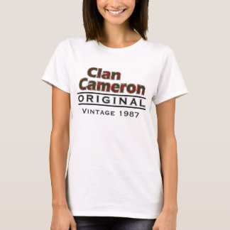 Clan Cameron Vintage Customize Your Birthyear T-Shirt