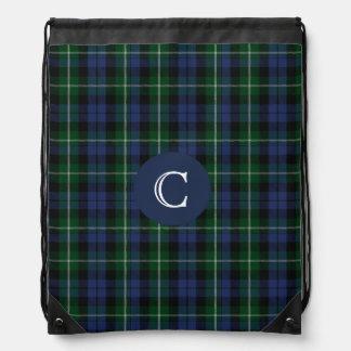 Clan Campbell Tartan Plaid Monogram Backpack