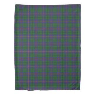 Clan Carmichael Scottish Accents Blue Green Tartan Duvet Cover