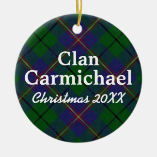 Clan Carmichael Scottish Tartan Ceramic Ornament