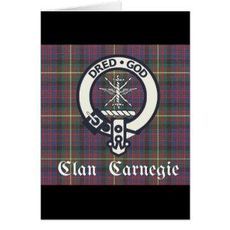 Clan Carnegie Crest Tartan Card