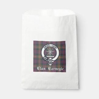 Clan Carnegie Crest Tartan Favour Bag