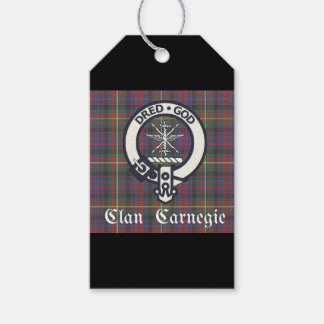 Clan Carnegie Crest Tartan Pack Of Gift Tags