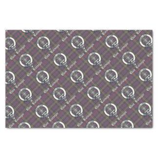 Clan Carnegie Crest Tartan Tissue Paper