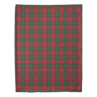 Clan Chisholm Scottish Accents Red Green Tartan Duvet Cover