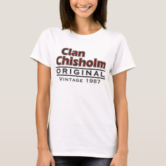 Clan Chisholm Vintage Customize Your Birthyear T-Shirt