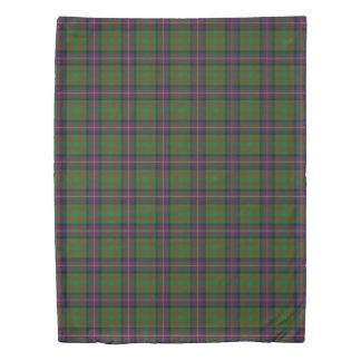 Clan Cochrane Scottish Accents Blue Green Tartan Duvet Cover