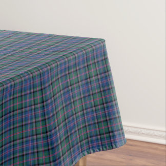Clan Cooper Tartan Green and Blue Scottish Plaid Tablecloth