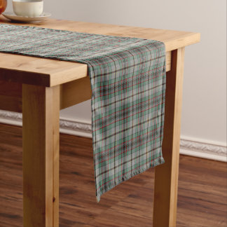 Clan Craig Gray and Green Scottish Tartan Short Table Runner