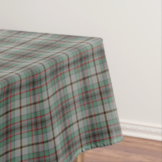 Clan Craig Gray and Green Scottish Tartan Tablecloth