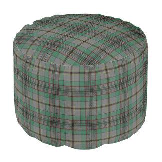 Clan Craig Scottish Style Green Gray Tartan Pouf