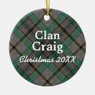 Clan Craig Scottish Tartan Ceramic Ornament