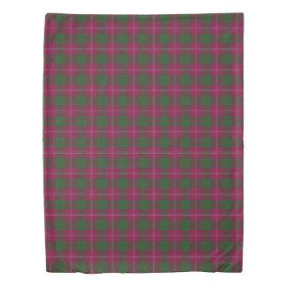 Clan Crawford Scottish Accents Purple Green Tartan Duvet Cover