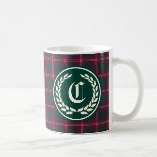 Clan Crawford Tartan Monogram Coffee Mug