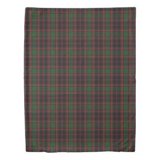 Clan Cumming Scottish Accents Green Black Tartan Duvet Cover