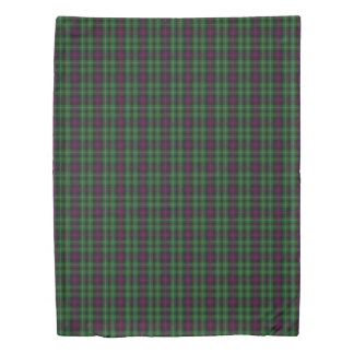 Clan Cunningham Scottish Accents Green Blue Tartan Duvet Cover